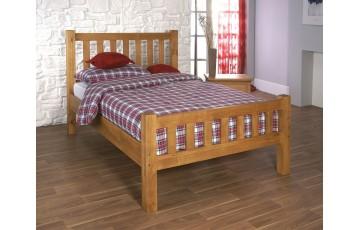 COMBO DEAL - Alabama Honeycomb Pine 4ft6 Bed Frame - Choice of Mattress