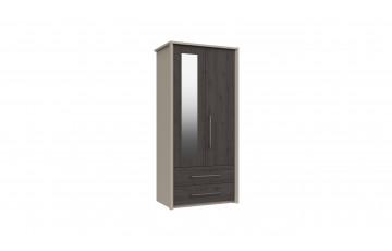 Bari 2 Door 2 Drawer Combi Robe W/ Mirror