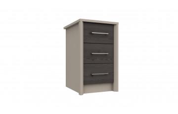 Bari 3 Drawer Bedside Cabinet
