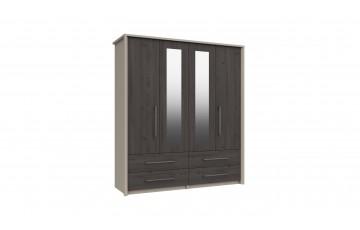Bari 4 Door Robe W/ 2 Mirrors