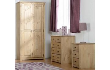 Panama Natural Wax Pine Bedroom Set