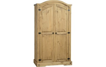Mexican Deluxe Reclaimed Pine 2 Door wardobe