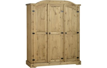 Mexican Deluxe Reclaimed Pine 3 Door wardrobe