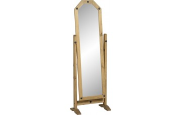 Mexican Deluxe Reclaimed Pine Cheval Mirror
