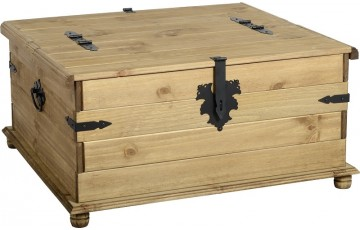 Mexican Deluxe Reclaimed Pine Double Storage Chest