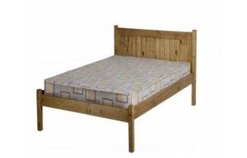 COMBO DEAL - Mexican Deluxe Petite Reclaimed Pine 4ft6 Bed Frame With Choice of Mattress