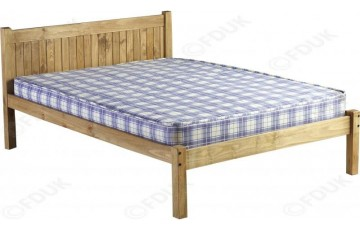 Mexican Deluxe Petite Reclaimed Pine 4ft6 Bed Frame