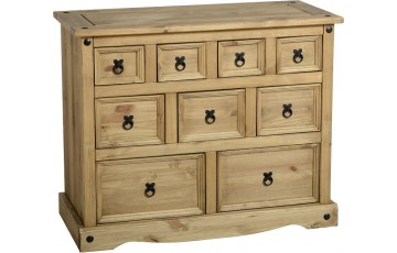 Mexican Deluxe Reclaimed Pine 4 Over 3 Over 2 Chest