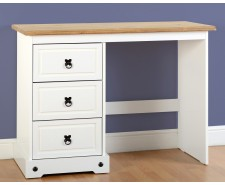 Mexican Deluxe Painted White Dressing Table