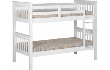 3ft Nebula Kids Bunk Bed - White