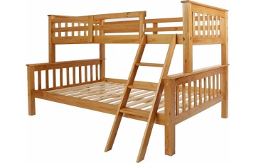 Nebula Kids Triple Bunk Bed - Pine