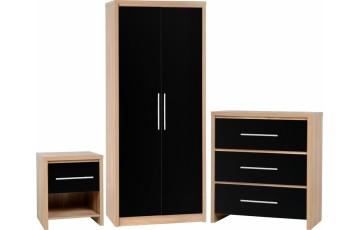 Seville Bedroom Set - Black Gloss