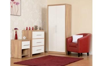 Seville Bedroom Set - White Gloss