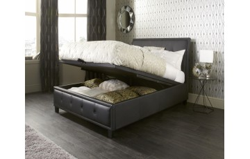 Clifford Leather 6ft Ottoman Bed Frame