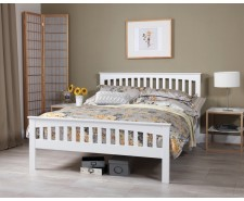 Adele 4ft Small Double White Bed Frame