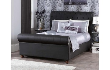Adeline 6ft Faux Leather Bed Frame