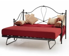 Lycan black day bed with guest bed