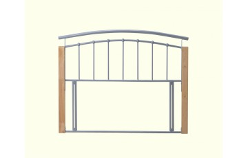 Toulouse 5ft Silver Metal Headboard - Next Day Delivery