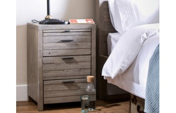 Toronto Reclaimed 3 Drawer Bedside Table
