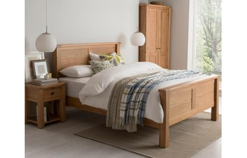 Breeze 4ft6 Solid Oak Bed Frame