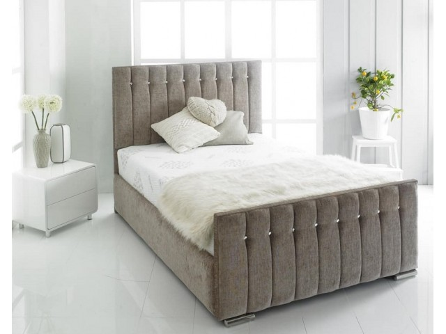 "Charlotte Upholstered 4'6"" Double' Bed Frame"