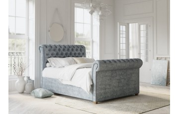 Chesterfield 4ft Small Double Upholstered Bed Frame