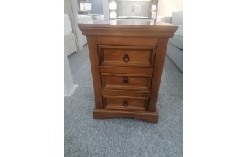 Clearance - Lynx 3 Drawer Bedside Table